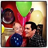 "Ty Burrell made a ""balloon buddy."" Source: Instagram user jessetyler"
