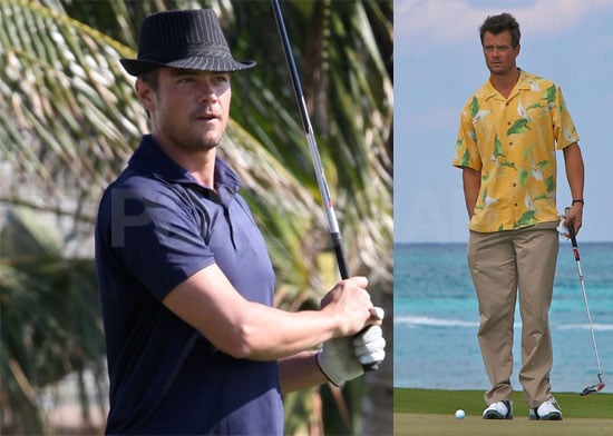 Photos of Josh Duhamel Playing Golf in the Bahamas