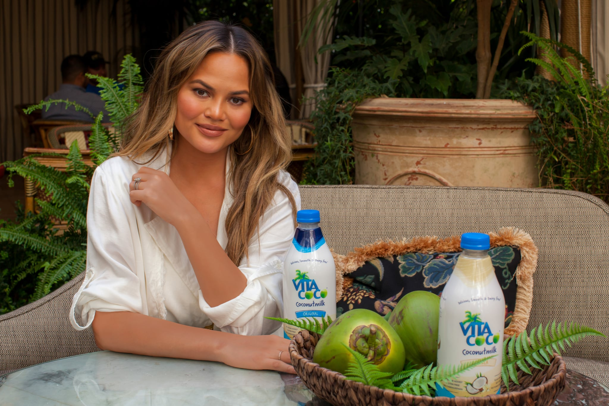 Image result for chrissy teigen coconut water