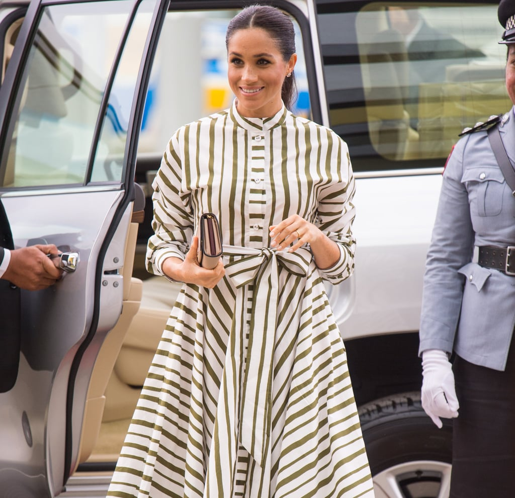 Meghan Markle Shirt Dress in Tonga 2018