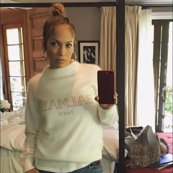 Jennifer Lopez Wearing Jeans and Timberland Boots April 2017