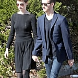 Anne Hathaway and Adam Shulman Walk, Talk, and Kiss Around LA