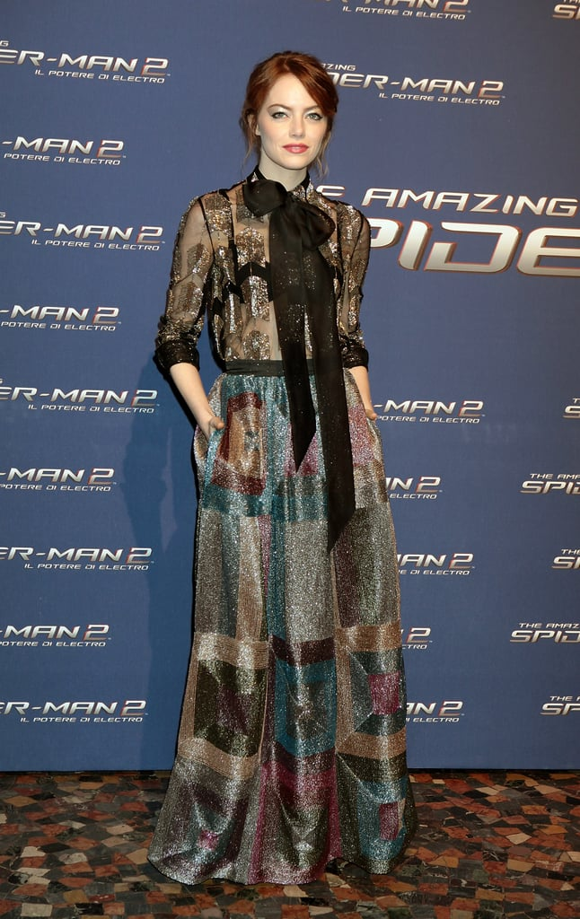 Emma Stone at the Rome Premiere of The Amazing Spider-Man 2