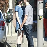 Anne Hathaway and Adam Shulman showed some PDA in LA.