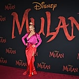 Christina Aguilera at the World Premiere of Mulan in LA
