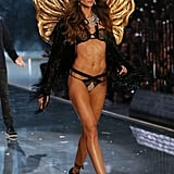 And in the 2015 Victoria's Secret Fashion Show. Izabel also strikes a fierce pose in La Perla's Spring '16 ads.
