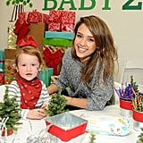 Haven worked the camera at the Baby2Baby holiday party in 2013.