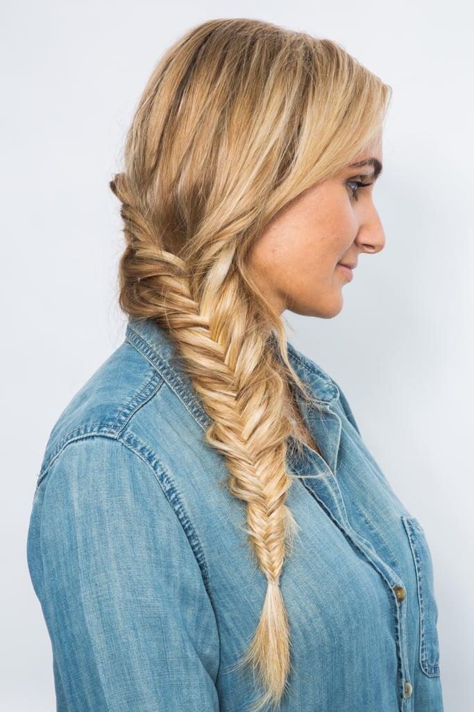 How to Festival Hair Fishtail Braid | POPSUGAR Beauty ... Fishtail Braid How To