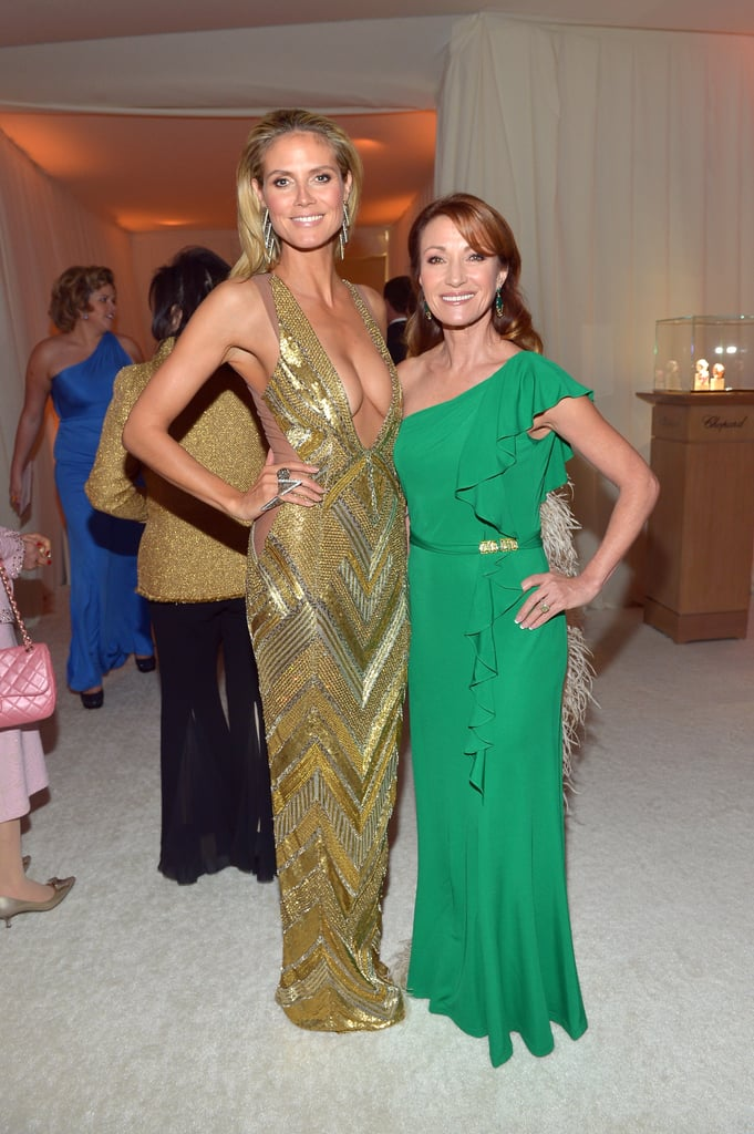 Heidi Klum and Jane Seymour linked up at Elton John's Oscar party.