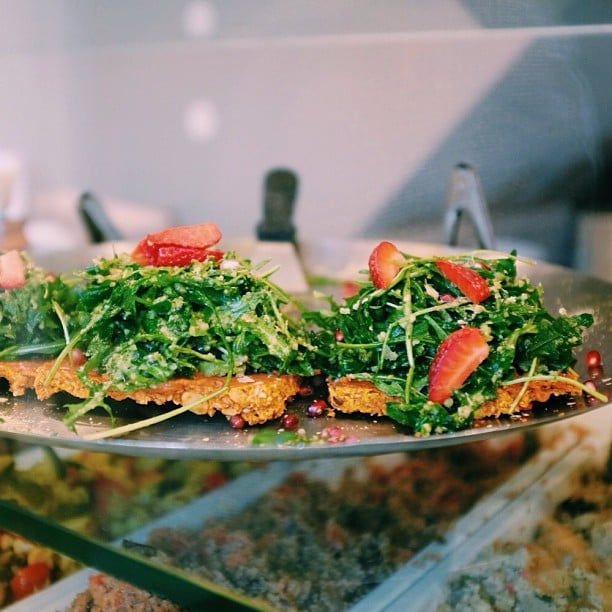 Flatbread With Arugula and Strawberries