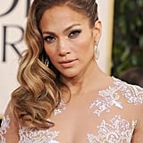Jennifer Lopez's Sideswept Waves in 2013