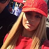 Kendall and Kylie Jenner's Red and Yellow Hats