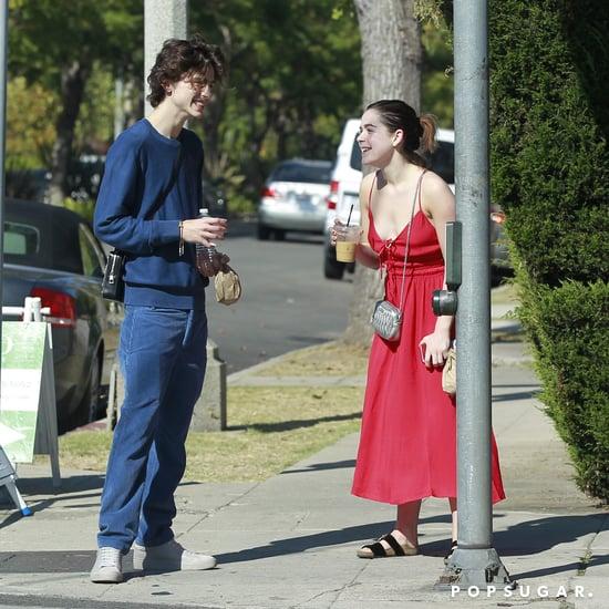 Timothée Chalamet and Kiernan Shipka Grab Coffee in LA
