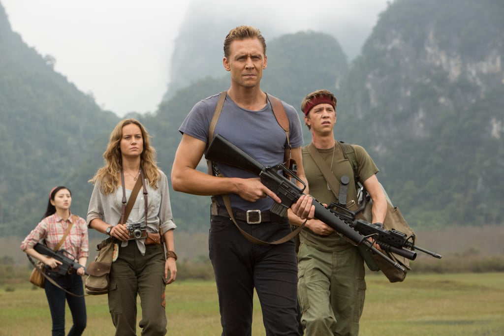 The reviews for Kong: Skull Island are in, and so far they're glowing. The movie is being praised for its action-packed plot, the crazy post-credits scene, and King Kong in all of his massive, CGI glory, but there's one thing I have yet to see get the attention it deserves: Tom Hiddleston's t-shirt.  As tracker James Conrad, he spends much of the movie kneeling down to examine broken underbrush, eluding King Kong, and rolling through the dirt to escape giant, underground lizard monsters who want to rip him limb from limb. In other words, a typical day at the office. But his greatest asset is not his gun. It's not even the Samurai sword he uses to slice his way through a flock of razor-beaked birds. It's his plain, gloriously tight, gray-blue t-shirt. To put it simply, he looks good as hell. Possibly better than he does in a suit, which is really saying something. I don't know how it magically stays perfectly tucked in, or what exactly it is about it that has inspired this obsession, but as a reward for you taking the time to read about this important, high-priority matter, please enjoy the next 17 photos of him and his t-shirt in action.      Related:                                                                                                           Take a Moment to Appreciate Tom Hiddleston's Hottest Moments