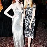 Karen Elson and Lauren Santo Domingo at the Vintage Vanguard benefit.