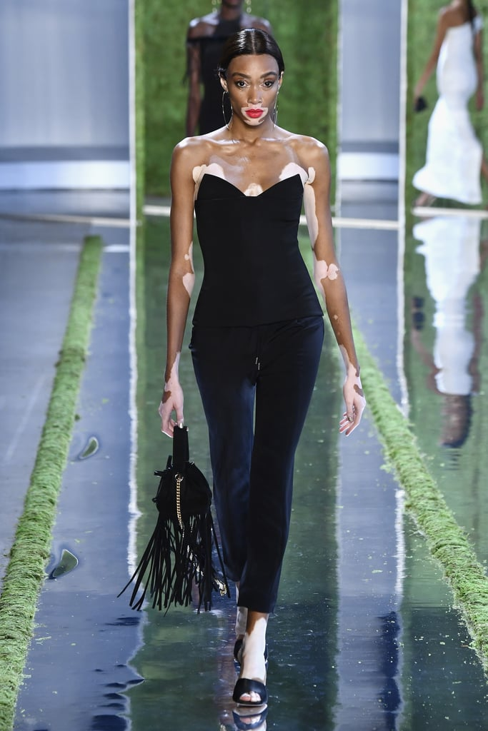 Winnie came to slay during this year's NYFW, walking for Cushnie.