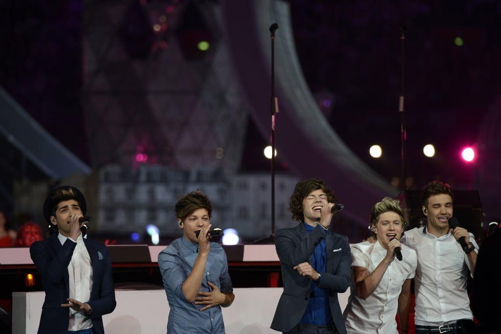 One Direction Performing at the Summer Olympics Closing Ceremony in 2012