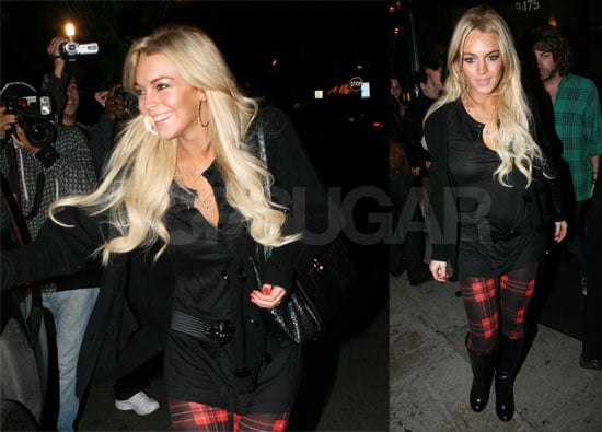 Lindsay Lohan Out to Dinner
