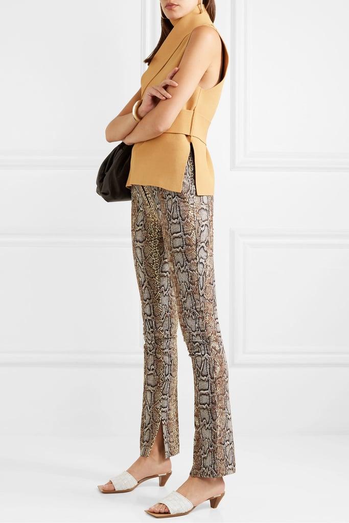 Victoria Beckham Cotton-blend snake-jacquard skinny pants
