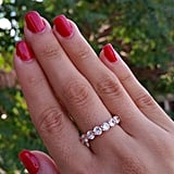 Etsy 925 Sterling Silver Eternity Diamond Ring