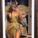 Kendall Jenner's Gold Fairy Costume