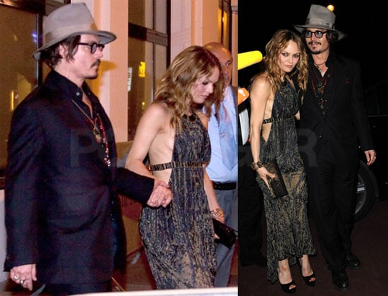 Pictures of Johnny Depp and Vanessa Paradis at Chanel Party During Cannes