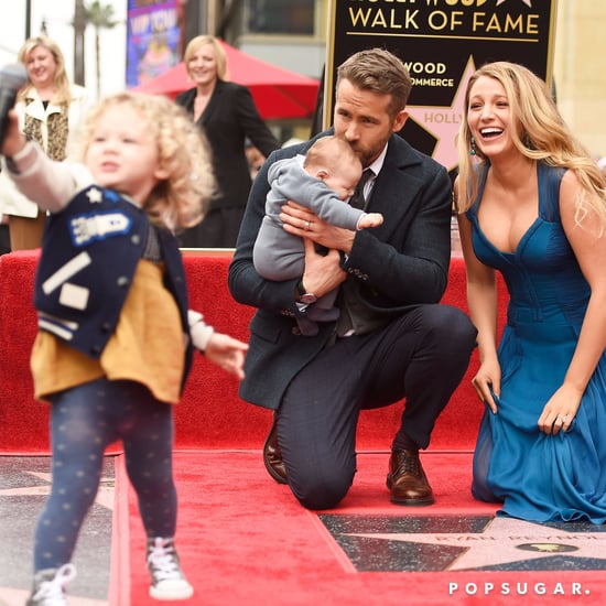 Ryan Reynolds and Family at Hollywood Walk of Fame Ceremony