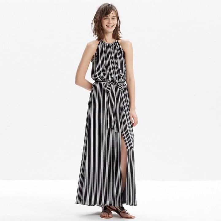 Madewell Silk Maxi Dress in Stripe ($188)
