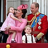 Kate Middleton Princess Charlotte Trooping the Colour
