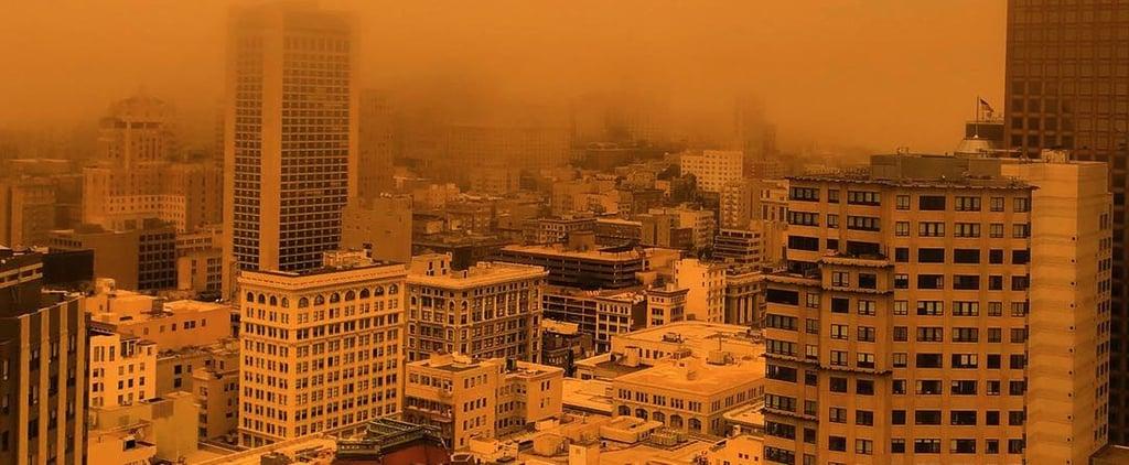 San Francisco Orange Sky After Wildfires July 2018