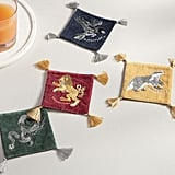 Harry Potter Hogwarts House Crest Tassel Coasters