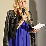 Rachel Zoe spoke on stage at the Supima presentation on Thursday.