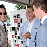 Matt Smith and Eddie Redmayne with Andrew Doyle, Director of Audi UK
