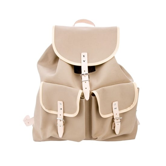 This beige canvas Essl Austrian backpack ($77) is demure but chic.