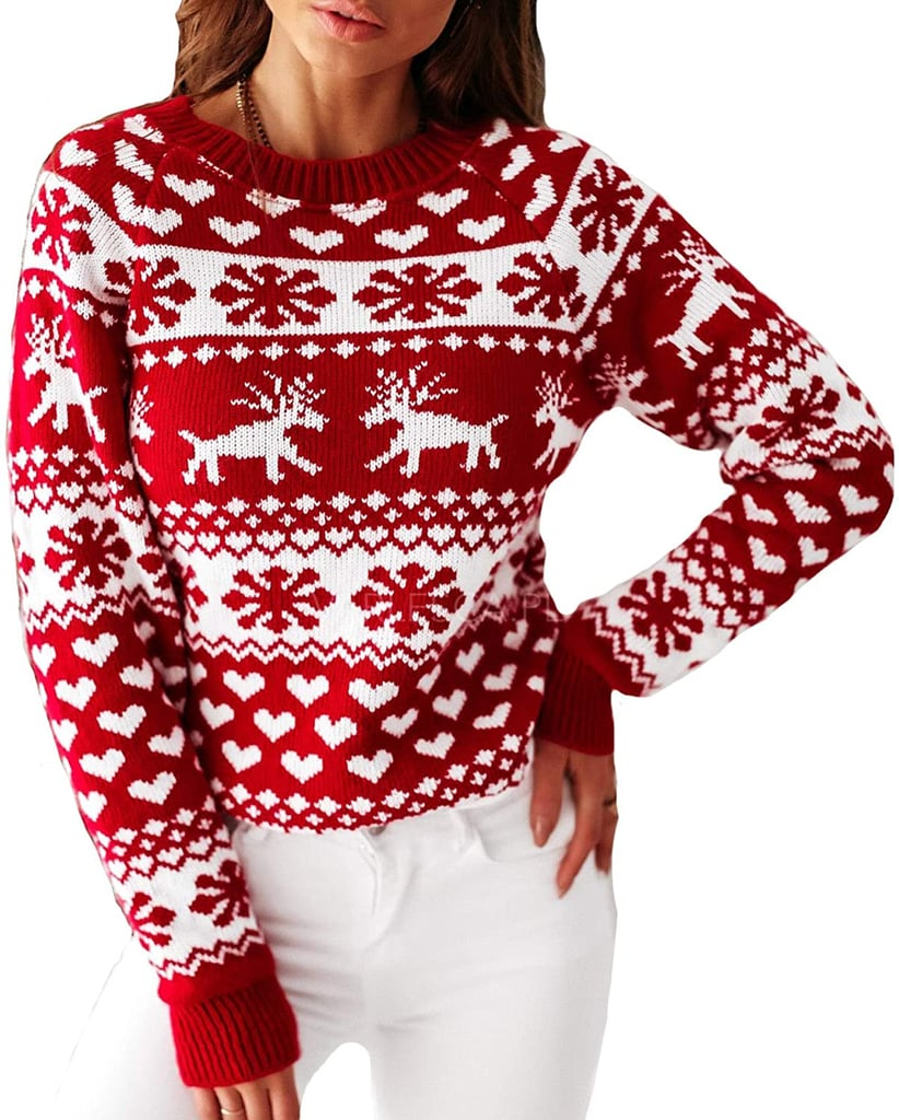 Christmas Animal Print Sweater