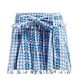 Dodo Bar Or Ariana Geometric-Embroidered Cotton Mini Skirt