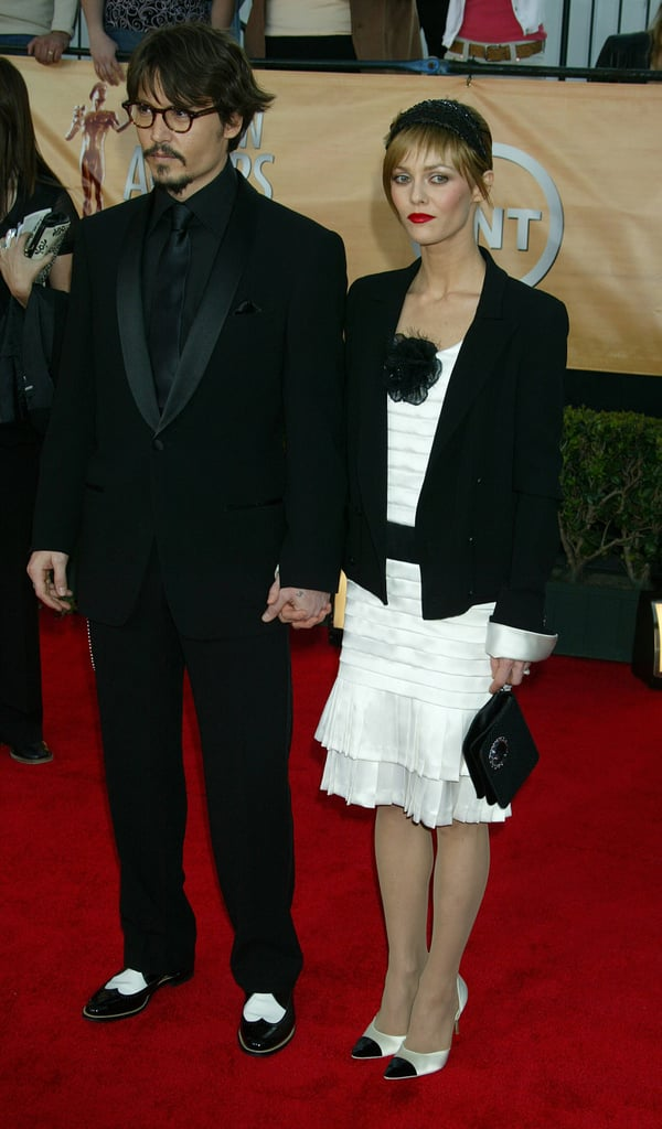 Johnny Depp and Vanessa Paradis went to the SAG Awards together in February 2005.