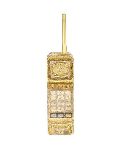 Judith Leiber Couture Call Me Brick Phone Clutch Bag