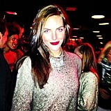 Hilary Rhoda attended a holiday party in a sparkly top. Source: Instagram user bfa_nyc