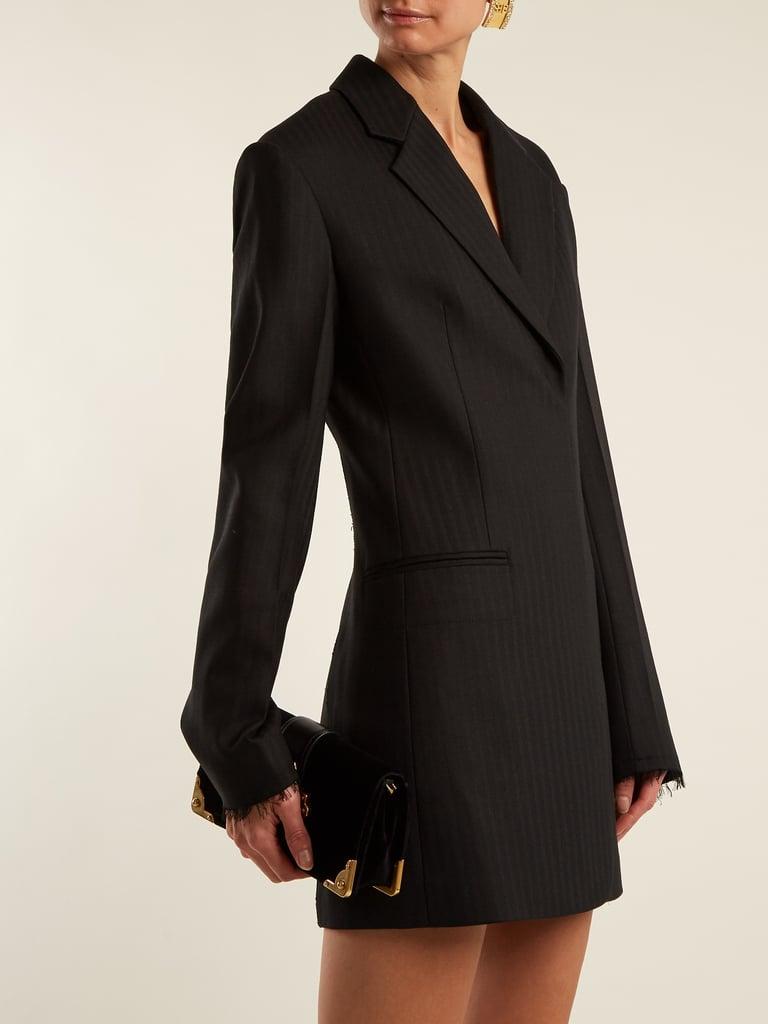 Helmut Lang Single-Breasted Wool-Blend Mini Dress ($720)