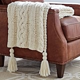 Stone & Beam Cosy Cable Knit Chunky Weave Throw Blanket