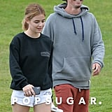 Lucy Hale and Riley Smith