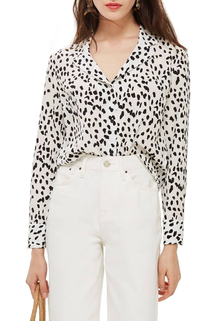 b6ea46790e Topshop Animal Print Pajama Shirt