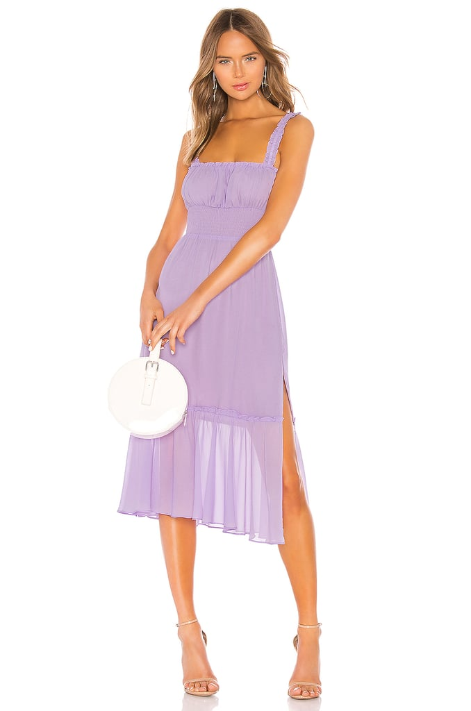 Rapunzel: Lovers + Friends Lilac Purple Arden Midi Dress