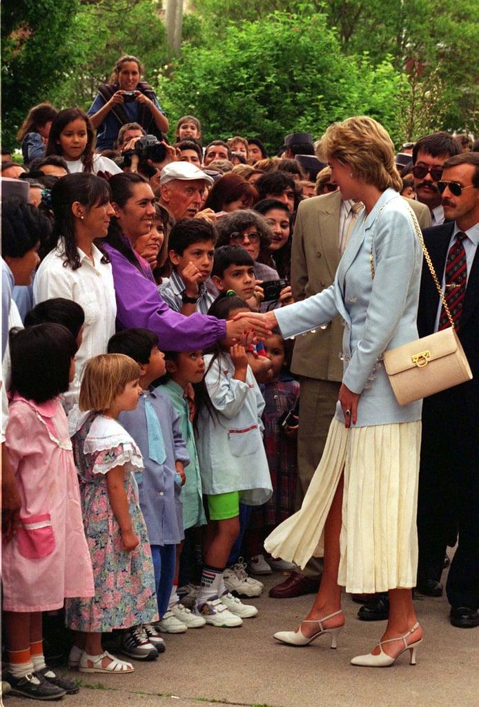 Princess Diana Carrying Her Lady D Salvatore Ferragamo Bag