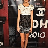 Alexa Chung looked pretty in a Chanel minidress.