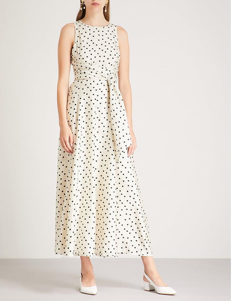 Diane Von Furstenberg Polka Dot Print Silk Midi Dress