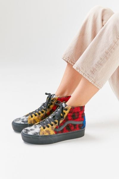 Vans Sk8-Hi Platform Fuzzy Leopard Sneaker