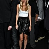 At Marc Jacobs's NYFW 2009 show, Nicole's diamond-dripping headband lent major sparkle to her leather tulip skirt and basic white tank.