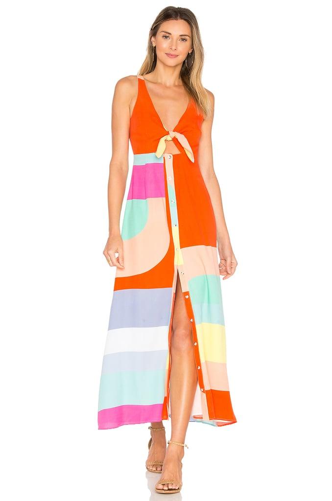 Mara Hoffman Tie Front Midi Dress Cutout Dress Popsugar Fashion